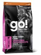 GO! беззерновой для собак всех возрастов с цельной курицей, GO! SKIN + COAT