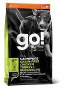 GO! беззерновой для Щенков всех пород 4 вида мяса: Индейка, Курица, Лосось, Утка , GO! CARNIVORE GF (10 кг)