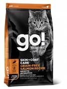 GO! беззерновой для котят и кошек, с лососем, GO! SKIN + COAT
