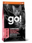 GO! беззерновой корм для котят и кошек, с лососем и треской, GO! CARNIVORE GF Salmon + Cod