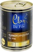 Clan De File консервы для собак (с индейкой)