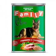 Clan FAMILY консервы для собак говядина с гречкой №43