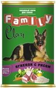 Clan FAMILY консервы для собак ягненок с рисом №44
