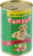 Clan FAMILY консервы для собак паштет из ягненка №47 415 г