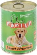Clan FAMILY консервы для собак паштет из телятины №46 415 гр