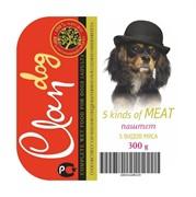 Clan консервы для собак (паштет из 5 видов мяса)