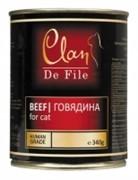 Clan De File консервы для кошек (с говядиной)