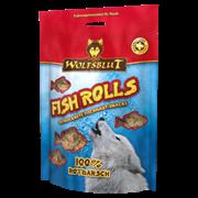 WOLFSBLUT (ВОЛЧЬЯ КРОВЬ) FISH SNACKS 100 ГР. - FISH ROLLS ROTBARSCH (РОЛЛЫ ИЗ МОРСКОГО ОКУНЯ)