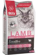 BLITZ  ADULT CATS LAMB корм для кошек с Ягнёнком