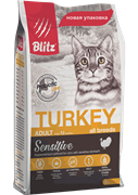 BLITZ  ADULT CATS TURKEY корм для кошек с Индейкой