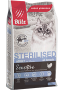 BLITZ  STERILISED CATS корм для стерилизованных кошек