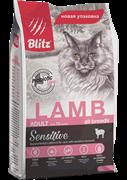BLITZ  ADULT CATS LAMB корм для кошек с Ягнёнком 10 кг