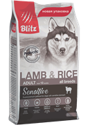 BLITZ ADULT Lamb & Rice корм для собак