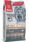 BLITZ ADULT MINI&TOY BREEDS корм для собак миниатюр и мелких пород пород