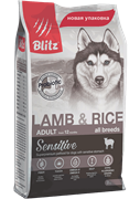 BLITZ ADULT Lamb &Rice корм для собак	(15 кг)