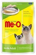 Ме-О Adult пауч д/кошек Сардина с курицей и рисом в желе 80г