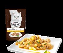ГУРМЭ ALCTE корм для кошек кусочки в подливе курица/макар пакетик 85г
