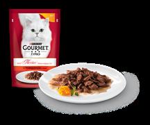 ГУРМЭ MON PETIT корм для кошек кусочки в соусе говядина пакетик 50г