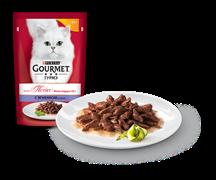 ГУРМЭ MON PETIT корм для кошек кусочки в соусе ягненок пакетик 50г