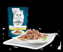 ГУРМЭ ПЕРЛ корм для кошек кусочки в подливе Курица пакетик 85г