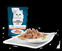 ГУРМЭ ПЕРЛ корм для кошек кусочки в подливе Лосось пакетик 85г