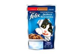 ФЕЛИКС Двойной Вкус корм для кошек говядина птица 85 г