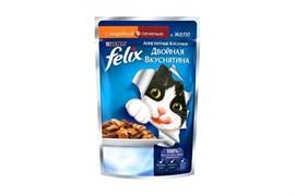 ФЕЛИКС Двойной Вкус корм для кошек Индейка печень  85 г