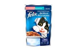 ФЕЛИКС Двойной Вкус корм для кошек Лосось Форель 85 г