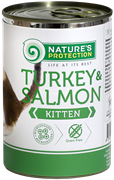 Nature's Protection Kitten Turkey & Salmon кон.д/котят Индейка/Лосось