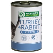 Nature's Protection Kitten Turkey & Rabbit кон.д/котят Индейка/Кролик