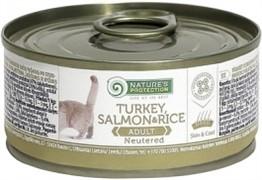 Nature's Protection Neutered кон.д/стерилизованных кошек и кастрированных котов Индейка/Лосось/Рис