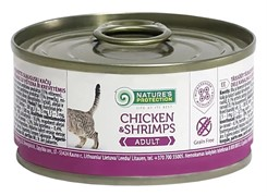 Nature's Protection Adult Chicken & Shrimps кон.д/кошек Курица/Креветки