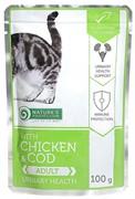 Nature's Protection Urinary Health пауч д/кошек уринари Курица/Треска 100г