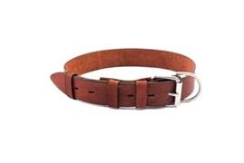 Yami-Yami Ошейник кожаный 40ммx60-75см, коричневый