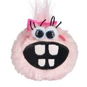 Rogz Плюшевый мяч для щенков с принтом зубы GRINZ PLUSH, розовый