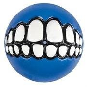 Rogz Мяч с принтом зубы и отверстием для лакомств GRINZ, синий