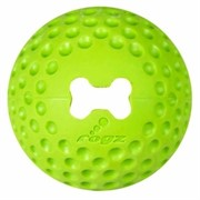 Rogz Мяч из литой резины с отверстием для GUMZ, лайм