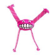Rogz Игрушка с принтом зубы и пищалкой FLOSSY GRINZ, розовый