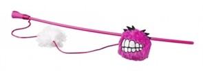Rogz Плюшевый мячик Fluffy Grinz с кошачьей мятой, розовый