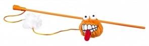 Rogz Плюшевый мячик Fluffy Grinz с кошачьей мятой, оранжевый