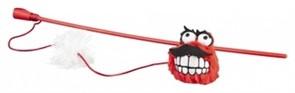 Rogz Плюшевый мячик Fluffy Grinz с кошачьей мятой, красный