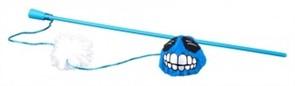 Rogz Плюшевый мячик Fluffy Grinz с кошачьей мятой, голубой