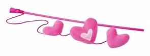 Rogz Плюшевые сердечки с кошачьей мятой, розовые