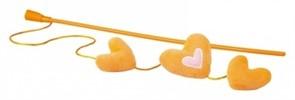 Rogz Плюшевые сердечки с кошачьей мятой, оранжевые