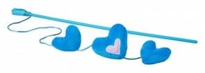 Rogz Плюшевые сердечки с кошачьей мятой, голубые