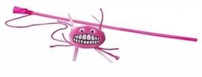 Rogz Плюшевая игрушка-дразнилка Flossy Grinz с кошачьей мятой, розовая