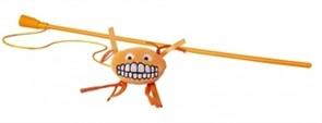 Rogz Плюшевая игрушка-дразнилка Flossy Grinz с кошачьей мятой, оранжевая