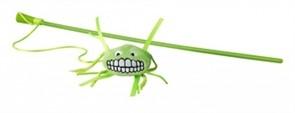 Rogz Плюшевая игрушка-дразнилка Flossy Grinz с кошачьей мятой, лайм