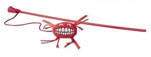 Rogz Плюшевая игрушка-дразнилка Flossy Grinz с кошачьей мятой, красная