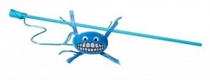 Rogz Плюшевая игрушка-дразнилка Flossy Grinz с кошачьей мятой, голубая